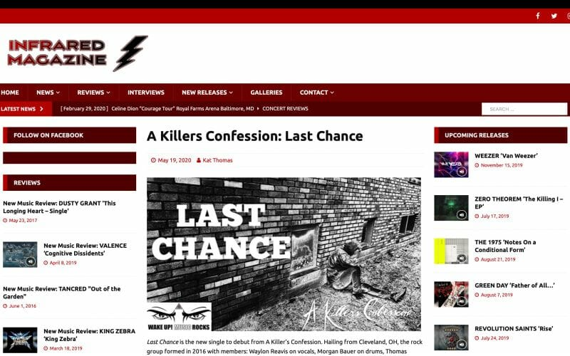 Infrared Magazine covers AKC 'Last Chance' drop