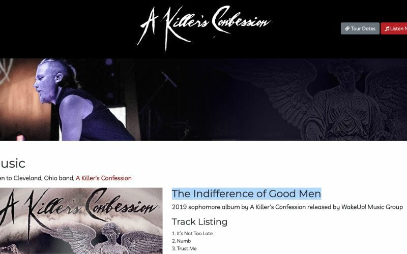 A Killer's Confession releases 'The Indifference of Good Men'