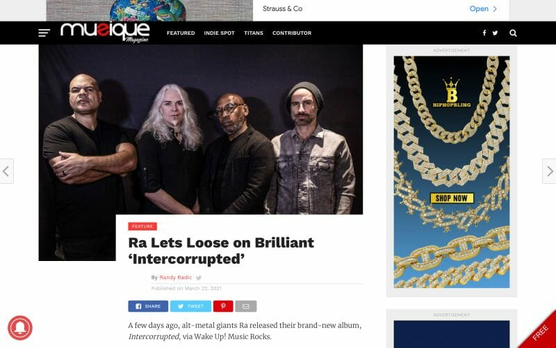 Musique Magazine covers Ra Release