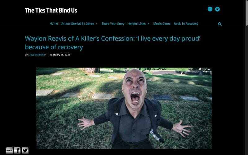 Waylon Reavis of A Killer's Confession: 'I live every day proud' because of recovery